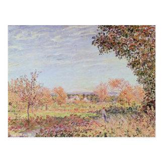 Cartão Postal Manhã de Alfred Sisley   setembro