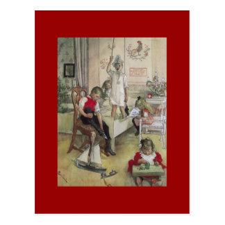 Cartão Postal Manhã de Natal 1894 de Carl Larsson