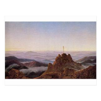 Cartão Postal Manhã em Riesengebirge - Caspar David Friedrich