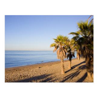 Cartão Postal Manhã na praia de Marbella na espanha