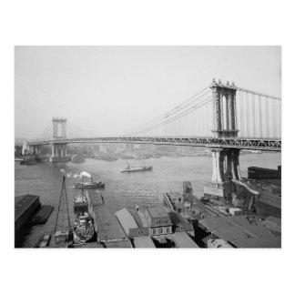 Cartão Postal Manhattan Ponte, 1909