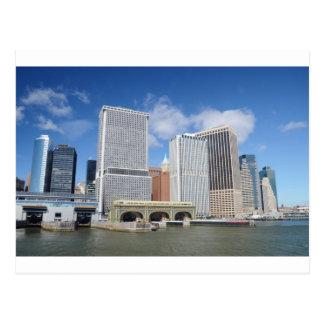 Cartão Postal Manhattan viu da água