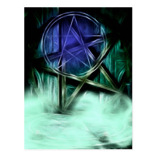 Cartão Postal Manipulação do Fractal da névoa de Wiccan