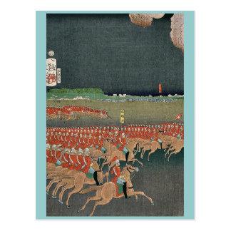 Cartão Postal Manobras militares das tropas por Taiso,