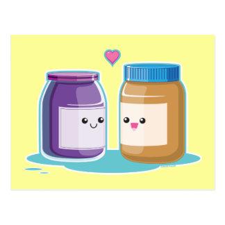 Cartão Postal Manteiga e geléia de amendoim
