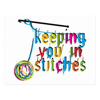 Cartão Postal mantendo o no ponto-crochet