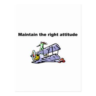 Cartão Postal Mantenha a atitude direita