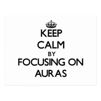 Cartão Postal Mantenha a calma centrando-se sobre auras