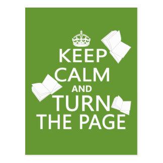 Cartão Postal Mantenha a calma e gire a página
