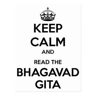 Cartão Postal Mantenha a calma e leia o Bhagavad Gita