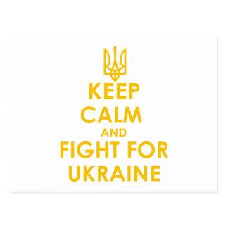 Cartão Postal Mantenha a calma e lute-a por Ucrânia