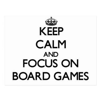 Cartão Postal Mantenha a calma e o foco a bordo dos jogos