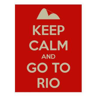 Cartão Postal Mantenha a calma e vá a Rio