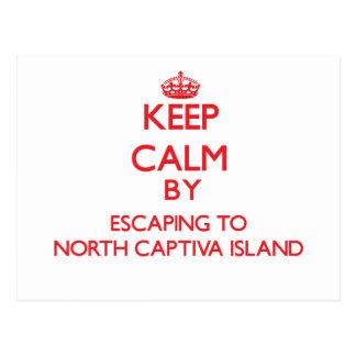 Cartão Postal Mantenha a calma escapando à ilha norte Flor de
