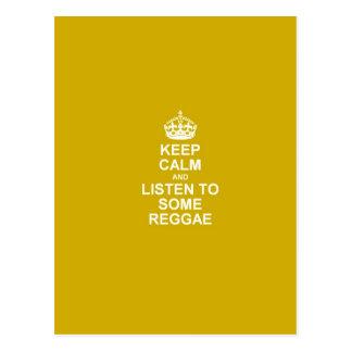 Cartão Postal Mantenha a calma & escute alguma reggae