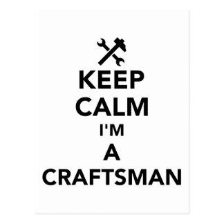Cartão Postal Mantenha a calma que eu sou um artesão