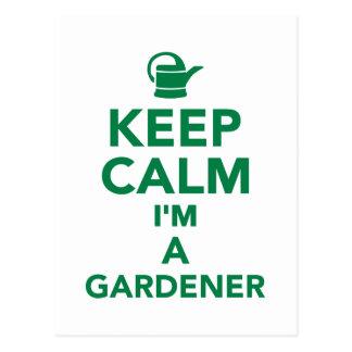 Cartão Postal Mantenha a calma que eu sou um jardineiro