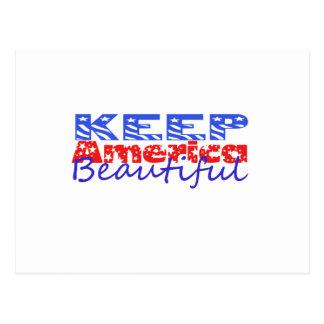 Cartão Postal Mantenha América bonita