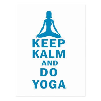 Cartão Postal mantenha calmo e faça a ioga