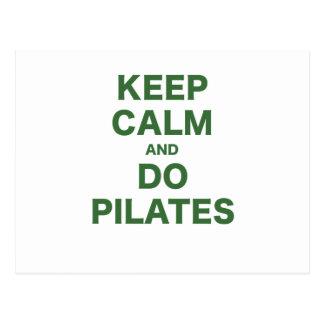Cartão Postal Mantenha calmo e faça Pilates
