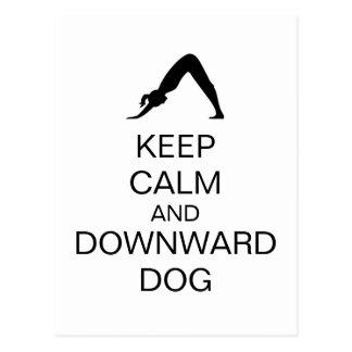 Cartão Postal Mantenha o cão calmo e descendente