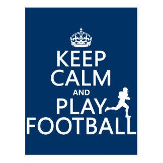 Cartão Postal Mantenha o futebol da calma e do jogo (o futebol
