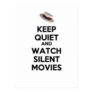 Cartão Postal Mantenha o silêncio e olhe filmes silenciosos