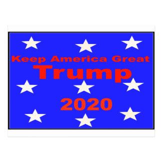 Cartão Postal Mantenha o slogan político do trunfo 2020 do