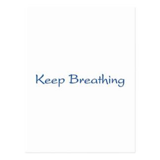 Cartão Postal Mantenha respirar