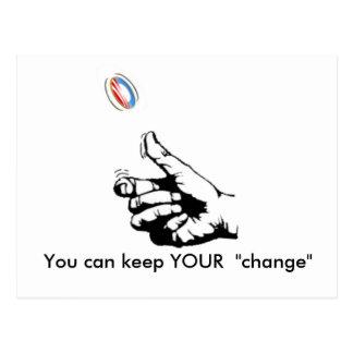 Cartão Postal mantenha SUA mudança, você pode manter SUA