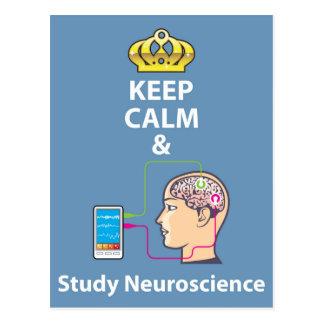 Cartão Postal Mantenha vetor calmo e do estudo da neurociência