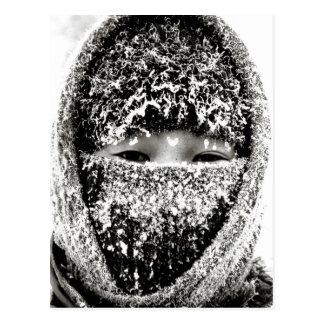 Cartão Postal Mantimento morno no inverno