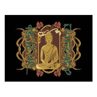 Cartão Postal Mantra de Buddha do vintage