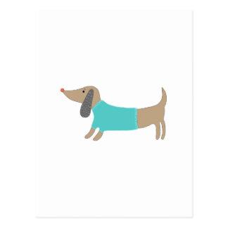 Cartão Postal Mão bonito cachorrinho tirado