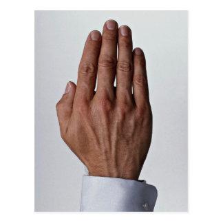 Cartão Postal Mão masculina
