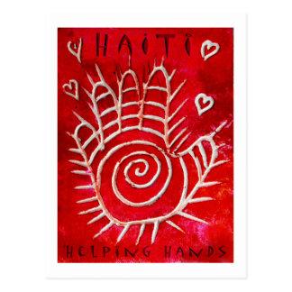 Cartão Postal Mãos amiga para Haiti