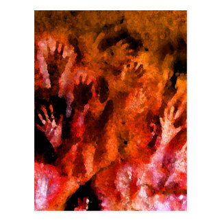 Cartão Postal Mãos do fogo