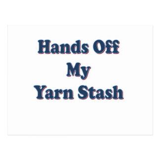 Cartão Postal Mãos fora de meu Stash do fio