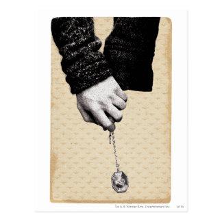 Cartão Postal Mãos guardarando do período   de Harry Potter com