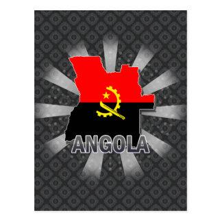 Cartão Postal Mapa 2,0 da bandeira de Angola