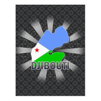 Cartão Postal Mapa 2,0 da bandeira de Djibouti