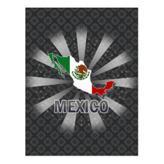 Cartão Postal Mapa 2,0 da bandeira de México