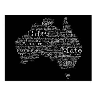 Cartão Postal Mapa australiano do calão