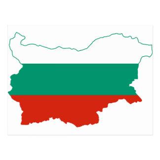 Cartão Postal Mapa BG da bandeira de Bulgária