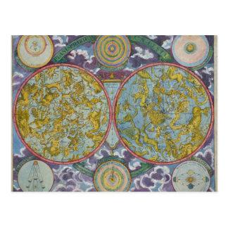 Cartão Postal Mapa celestial dos planetas