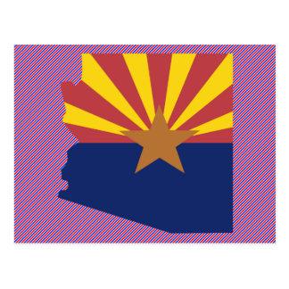 Cartão Postal Mapa da bandeira da arizona