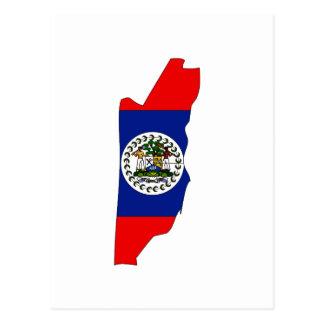Cartão Postal Mapa da bandeira de Belize