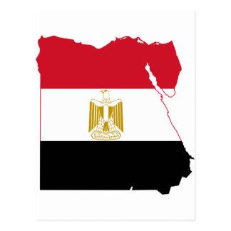 Cartão Postal Mapa da bandeira de Egipto POR EXEMPLO