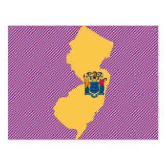 Cartão Postal Mapa da bandeira de New-jersey