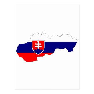 Cartão Postal Mapa da bandeira de Slovakia